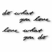 Надпись декоративная Do what you love настенная черная