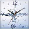"""Настенные часы """"Брызги""""  29*29 см"""