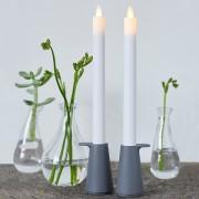 Светодиодная свеча с имитацией живого огня SARA, сет 2 шт (работает с пультa)