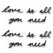 "Декор для стен Надпись ""Love is all you need"" 42*34 см"