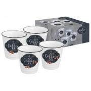 Набор из 4-х чашек для кофе Кухня в стиле Ретро в подарочной упаковке 0,1л
