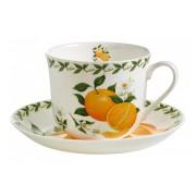 """Чашка с блюдцем """"Апельсин"""", 0,48 л."""