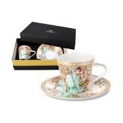 Чашка с блюдцем Зима (А. Муха) в подарочной упаковке