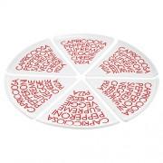 Блюдо для пиццы TASTE, 6 ШТ,подарочная упак.,18*18 см