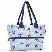 Сумка Shopper E1 leaves blue